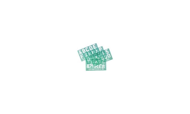 Linex 3 Piece Lettering Stencil Set 10/20/30mm
