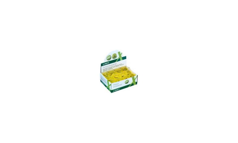 Linex Single Hole Small Container Sharpener - Yellow in CDU