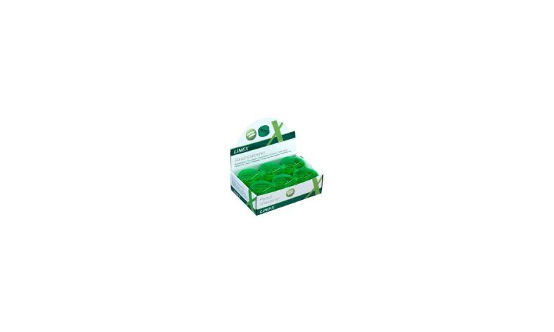 Linex Double Hole Small Container Sharpener - Green in CDU