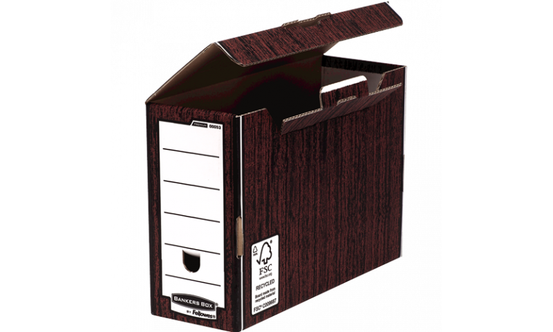 Fellowes R-Kive Premium Transfer File Woodgrain Foolscap Size