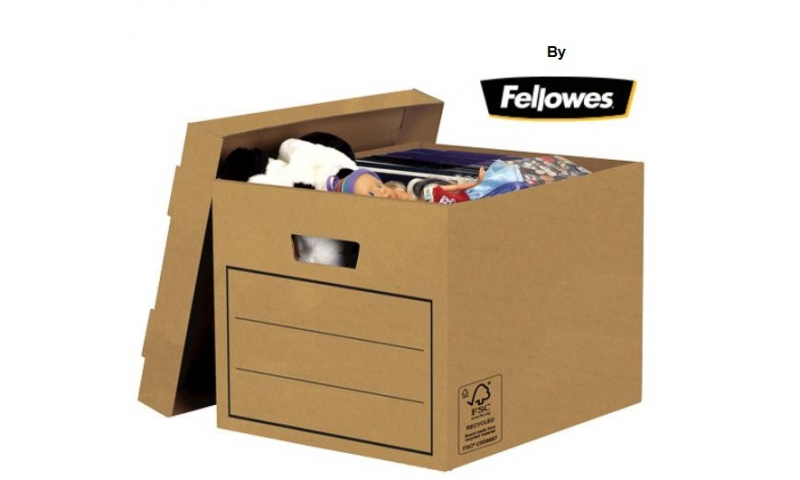 FSC Certified 100% Recycled Budget Storage Box by Fellowes