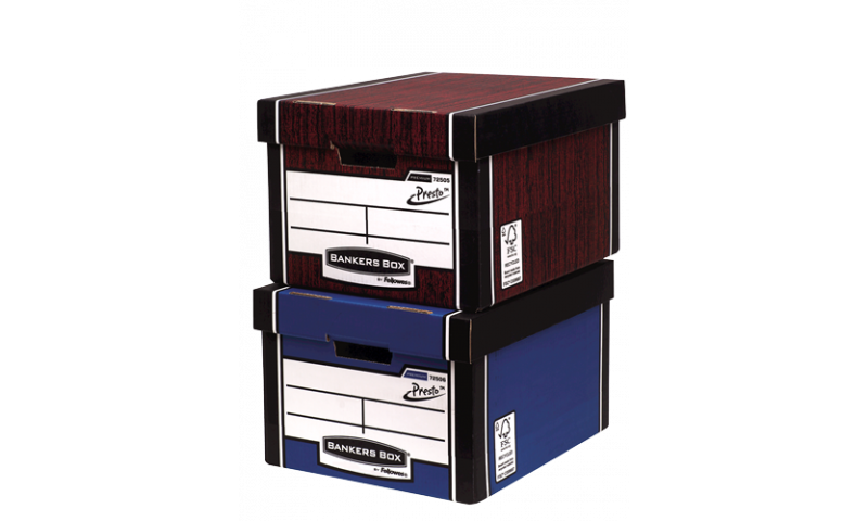 Fellowes R-Kive 100% Recycled Storage Box, Classic Presto, 725 Series (New Lower Price for 2021)