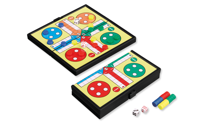MAGNETIC Branded Travel Ludo Games with Plastic Supplements