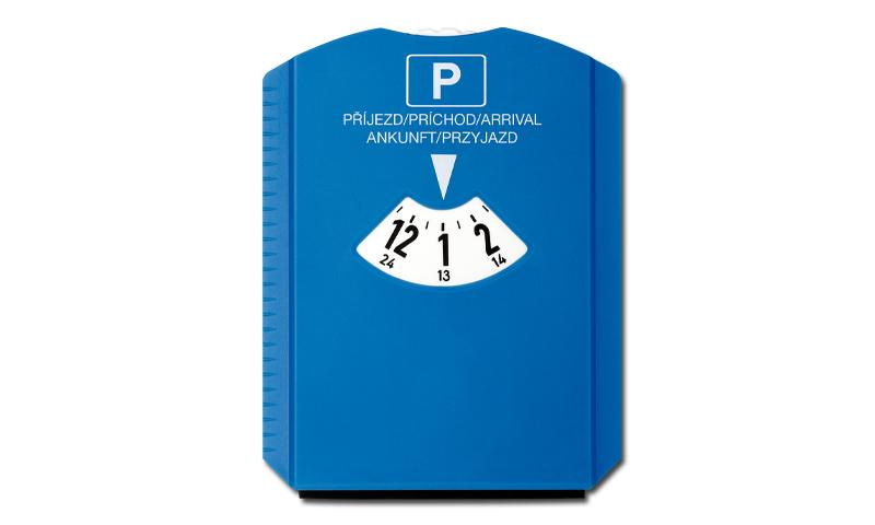 LAURIEN Printed plastic Parking Clock with Ice Scraper
