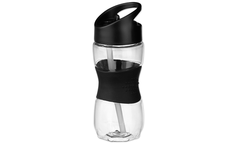 ELIJAH Branded Sports Bottle with Silicon Additions, Volume 350ml
