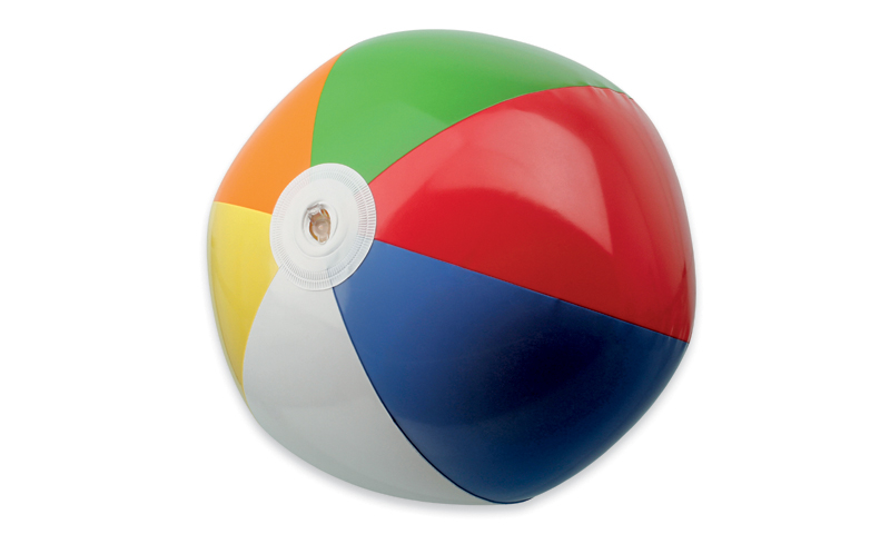 BEACH COLOUR Branded Plastic Inflatable Beach Ball with 6 Panels