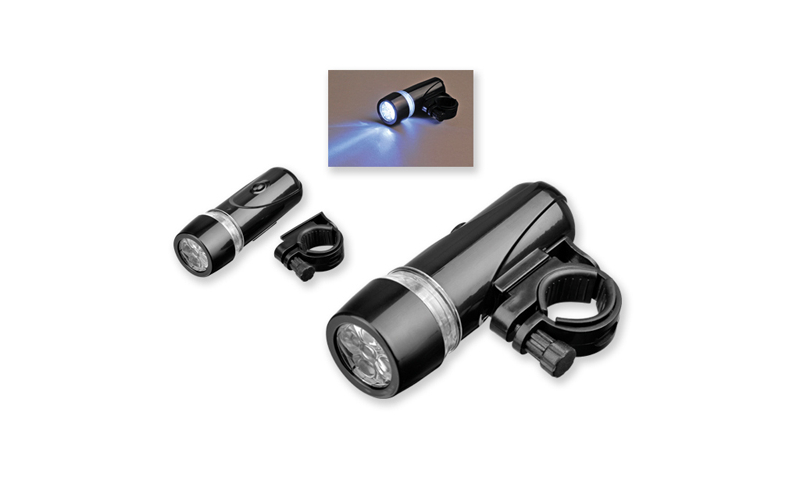 LIGHTON Branded Torch for Bikes with 5 LED and plastic holder