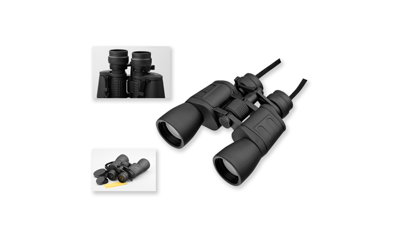 """WESTON Branded Rubber Binoculars with metal supplements and """"zoom"""" Functions in textile Pouch"""