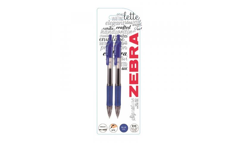 Zebra Sarasa Rapid Dry Gel Ink Retractable, Single on Card Blue