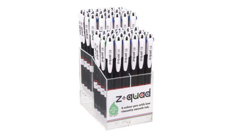 Zebra Z-QUAD 48PC DISPLAY 4 Colour Ballpen (New Lower Price for 2021)