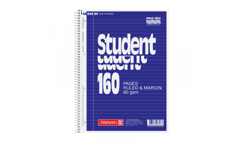 Brunnen A4 Spiral Refill Pad F&M 80gsm - 160 page