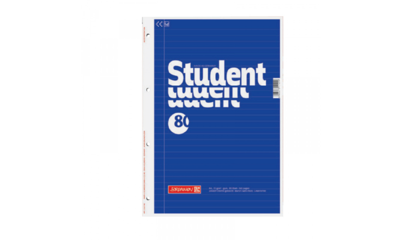 Brunnen A4 Refill Pad, 80gsm F&M, Sidebound 160 Pages