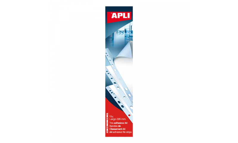 Apli A4 Multipuched Adhesive Filing Strips, 10pk