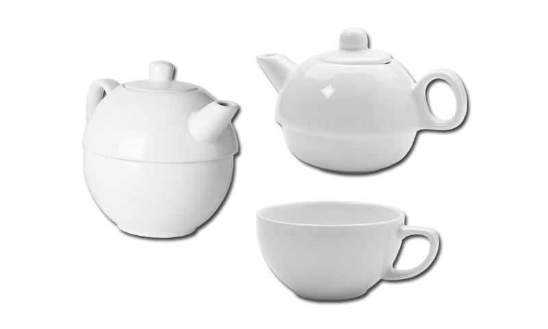 TEASET 2 in 1 Printed Porcelain Tea set 2 in 1 pot 350ml, Cup 270ml