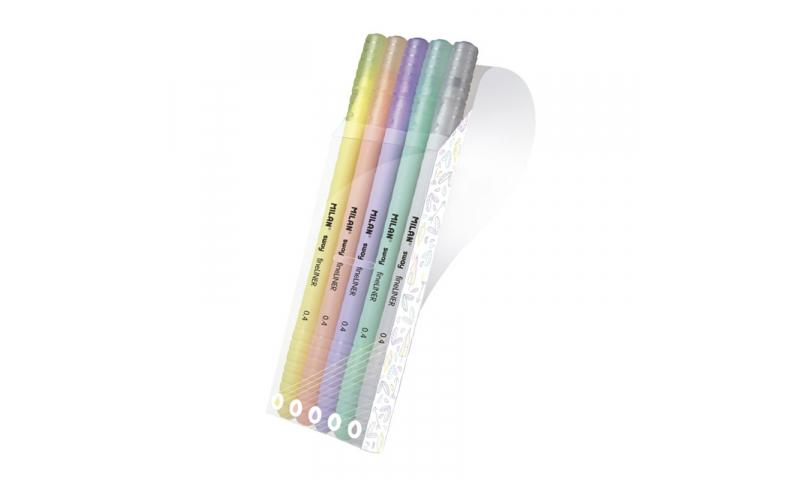 Milan Sway Pastel Fineliner Pens 0.4mm Wallet of 5 Asstd Colours in CDU