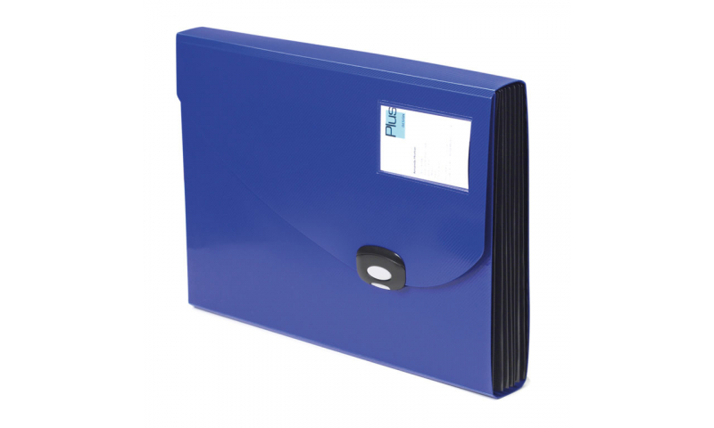 Rapesco 7 Part Expanding File, Click Lock Fastening, Clear ID Card in Front, 2 Asstd
