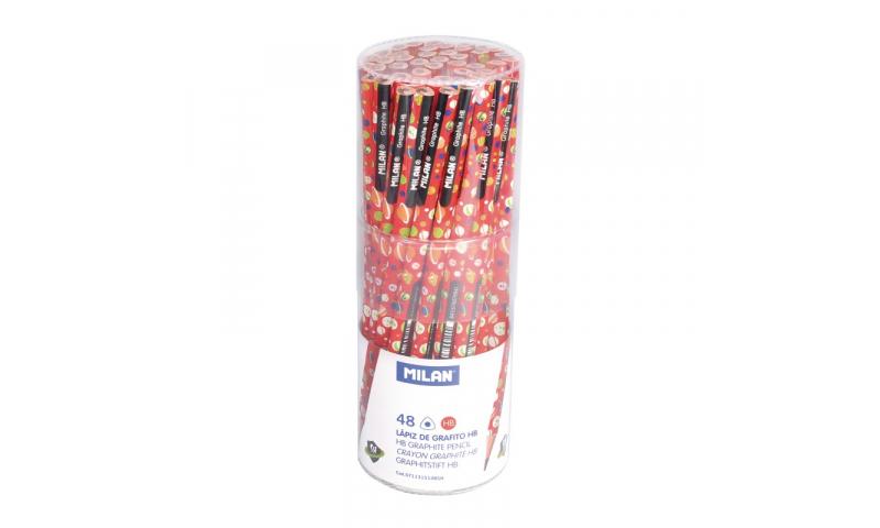 Milan Space Super Heroes Triangular HB Pencils, Display Tub