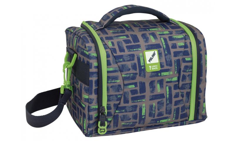 Milan High Capacity Isothermical food bag Maze Grey/Green