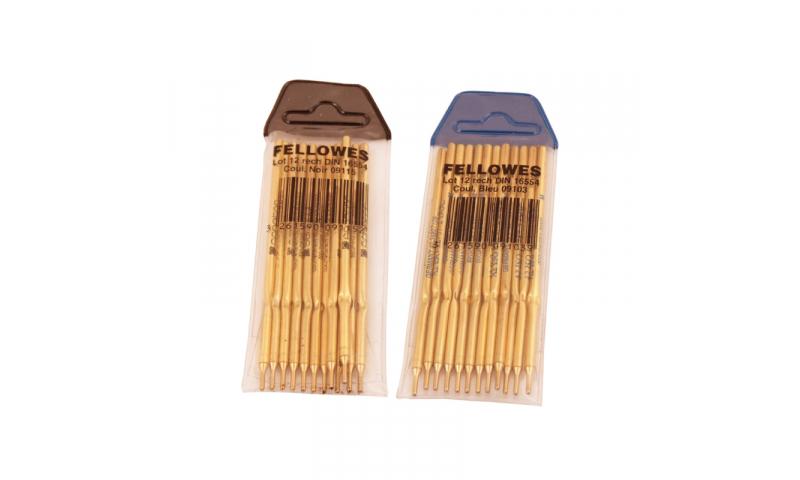 Fellowes Pen refills for Desk Pen Blue - pack of 12