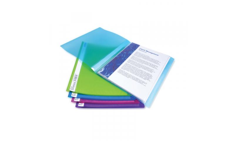 Rapesco A4,Flexi Display Books 10 Pockets, Asstd Colours