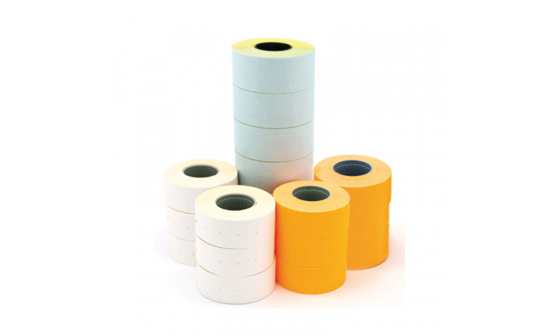 Apli White Removable Pricing Labels, Double Line 26x16mm, Roll of 1000 (New Lower Price for 2021)