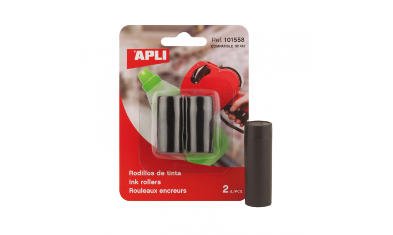 Apli Ink Rollers for Pricing Guns Hangpack of 2 (For 101418)