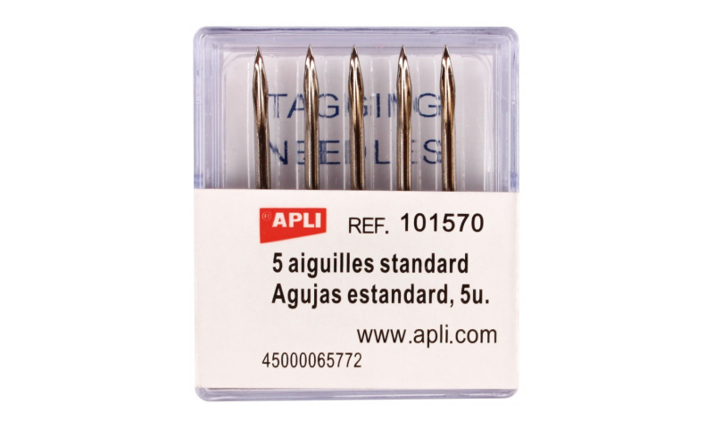 Apli Set of 5 Spare Needles for Apli & Other STD Taggers (New Lower Price for 2021)