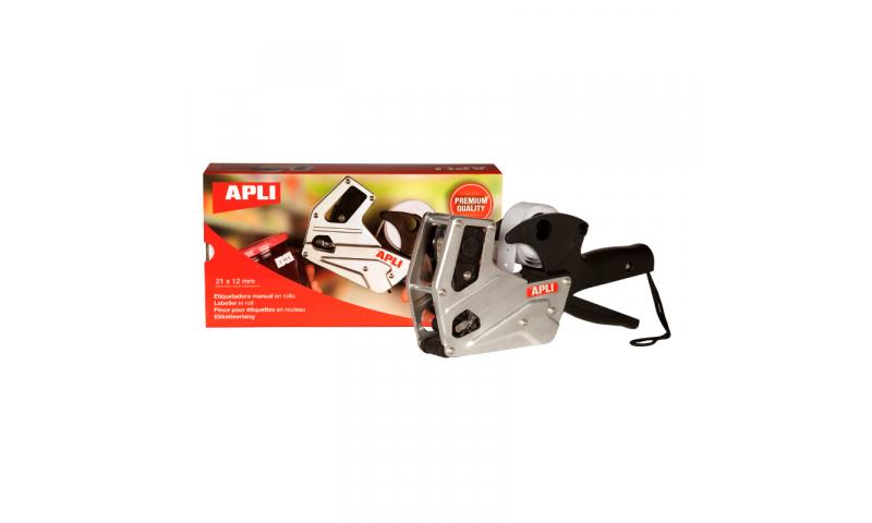 Apli Premium Metal Single Line Pricing Gun Takes CT1 Labels 21x12