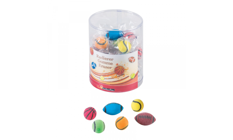 Brunnen Sports ball Erasers - asstd  (New Lower Price for 2021)