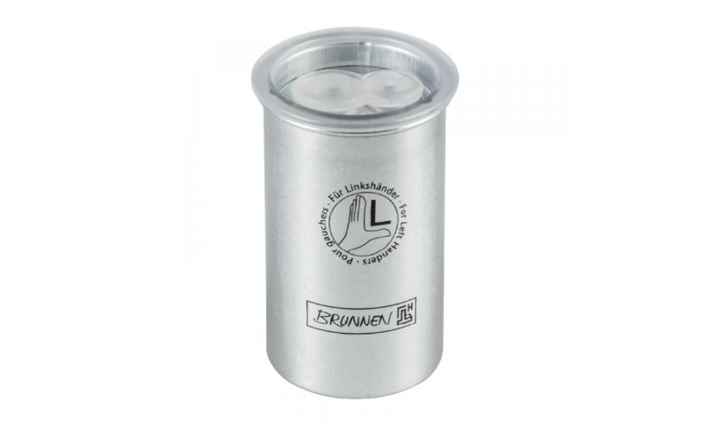 Brunnen Left Hander Aluminium Canister Pencil Sharpener (New Lower Price for 2021)