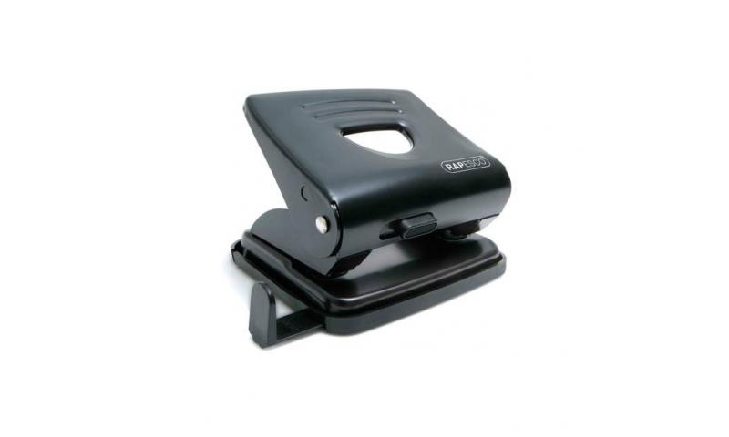 Rapesco 825 25 Sheet Deluxe Black Metal H/Duty Perforator