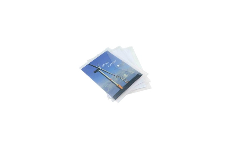 Rapesco Eco Popper Wallet A4 (Pack = 5 Files) Clear