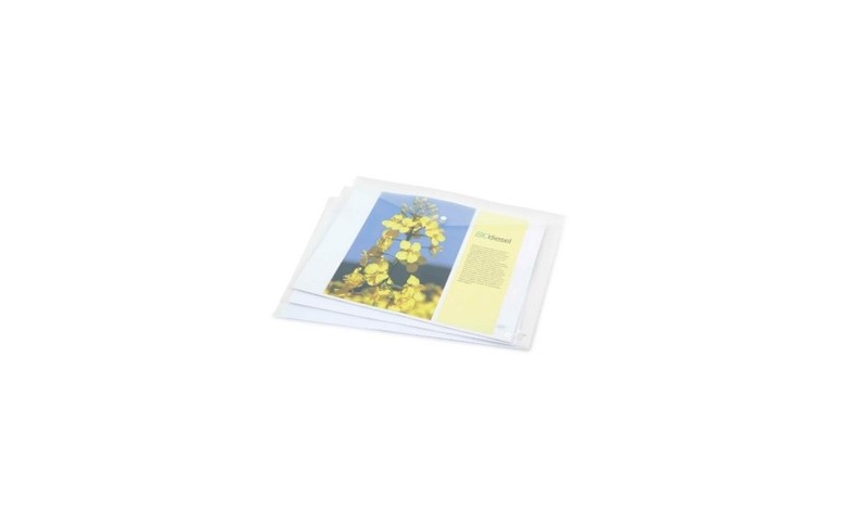 Rapesco Eco Popper Wallet A3 (Pack = 5 Files) Clear