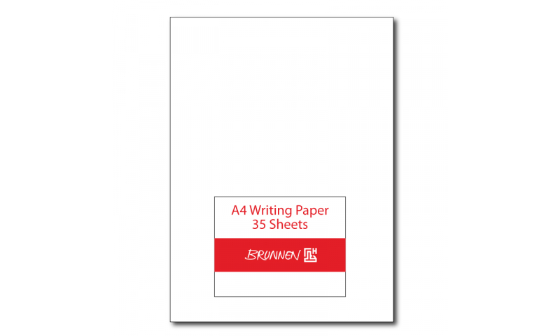 Brunnen A4 Writing Paper, 120gsm - Pack 35 Sheets - 5 Colours to choose. (New Lower Price for 2021)