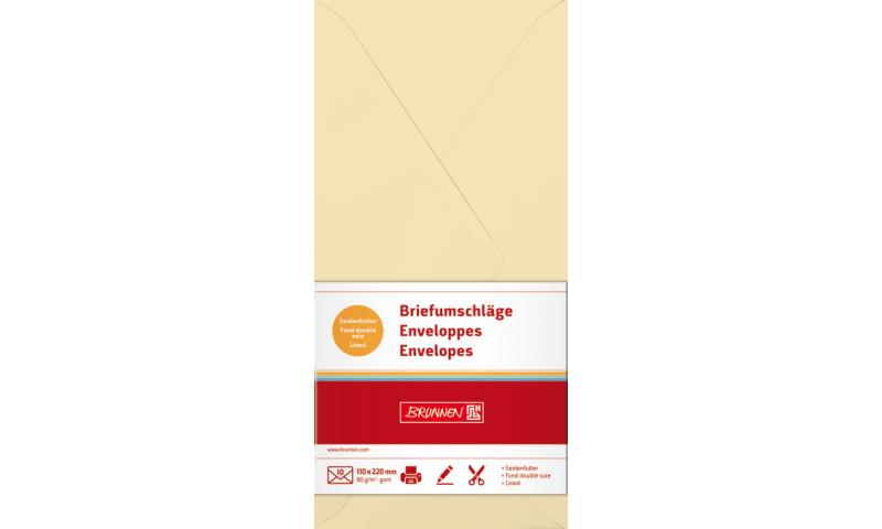 Brunnen DL Chamois Envelopes 80gsm, 10pk