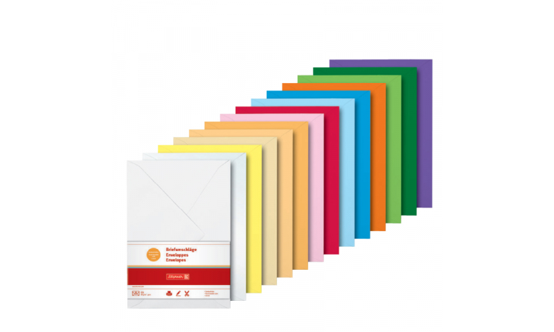 Brunnen C5 Envelopes 80gsm - Retail Pack of 10 - 9 colours available