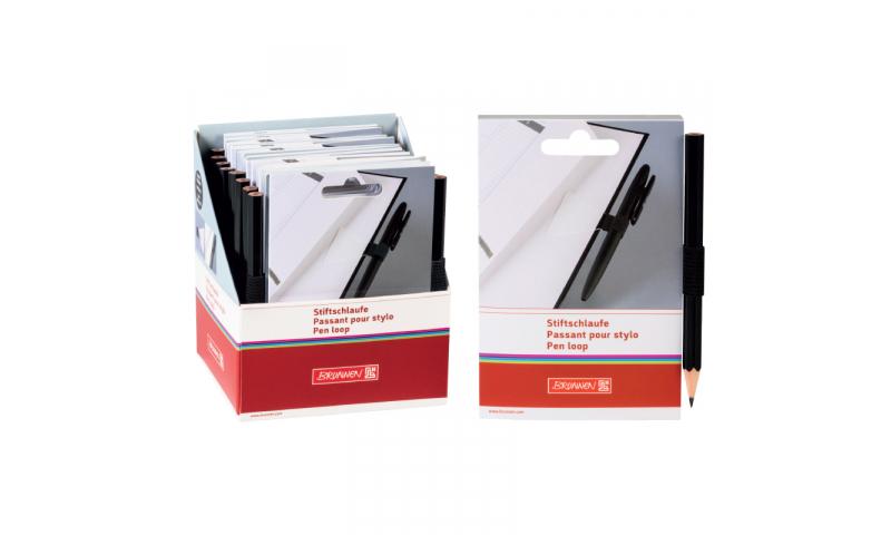 Brunnen Adhesive Elastic Notebook Loop with Pencil