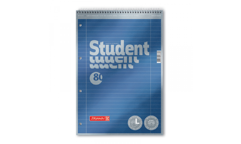 Metallic Headbound Spiral A4 Refill Pad, 90g Paper, 80 Sheet, Perforated (New Lower Price for 2021)