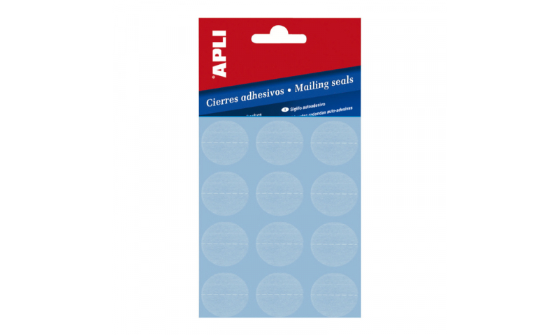 Apli Clear 25mm Seals with Perforations, 120 Labels