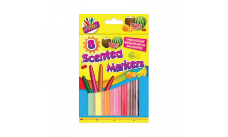 ArtBox Jumbo Scented Markers, 8 Pack