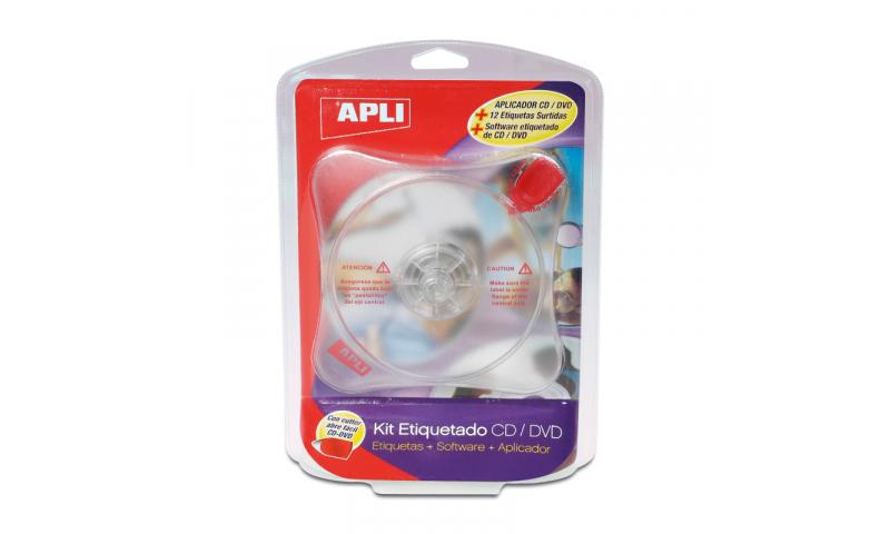 Apli CD Label Software Applicator & Asstd Labels