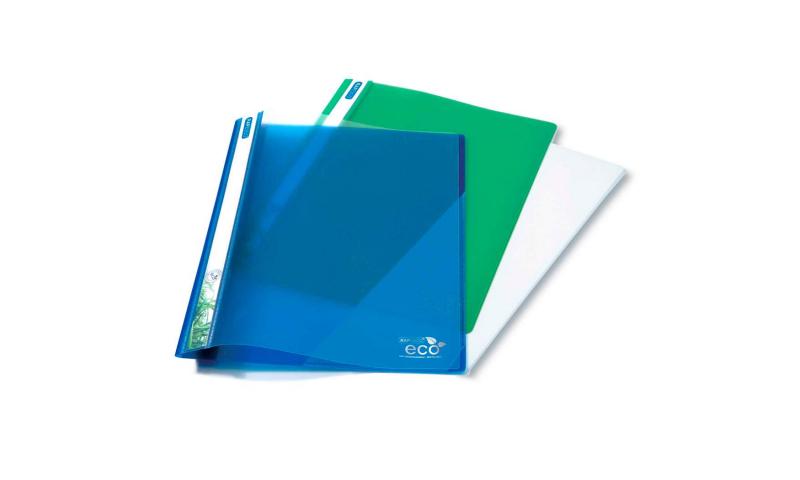 Rapesco ECO A4 Biodegradable Report Files. Internal 2 Hole prong mechanism, clear front, asstd colour backs.