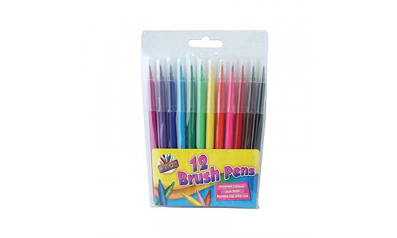 ArtBox Brush Fibre Pen Wallet of 10