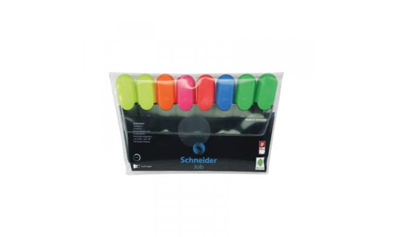 SCHNEIDER Job Highlighter, Wallet of 6 asstd colours
