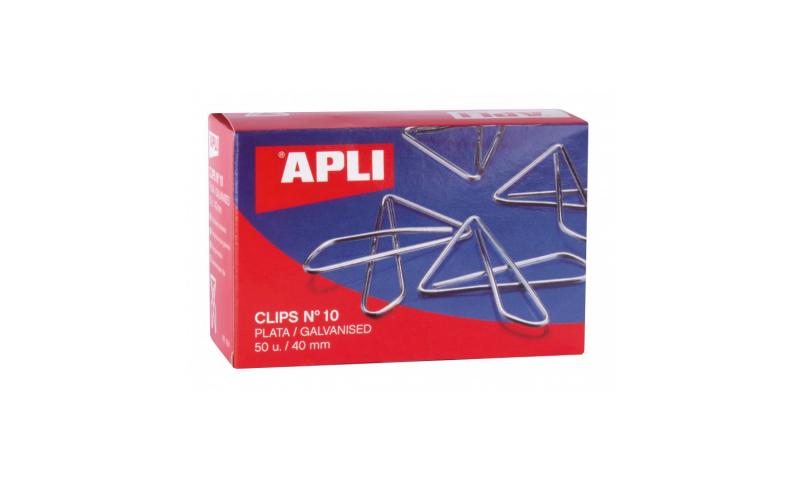 APLI Butterfly Chrome paper Clips 40mm x 50pcs
