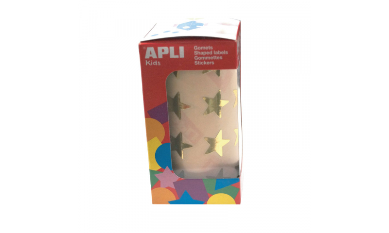 Apli Gold Star Labels, Large 24mm, 1416 on Roll