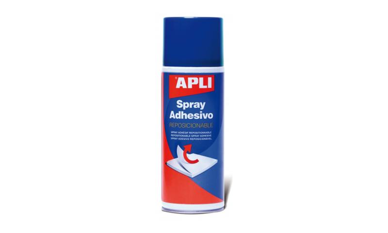 Apli Spray Adhesive for Mounting, Repositionable Jumbo 400ml Can