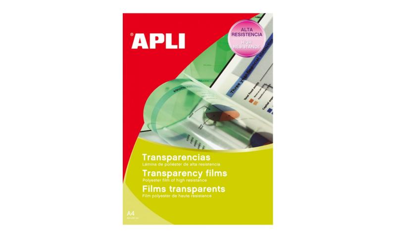 Apli A4 Ink Jet Clear Transparencies, Mono Printing, 50 Sheets