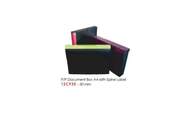 Factis P/P Document Box A4 with Spine Label, 30mm: (New Lower Price for 2021)