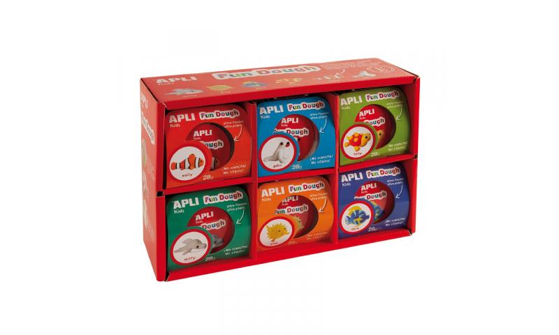 Apli Fun Dough Sealife Kits, 28g, 6 Asstd, Display